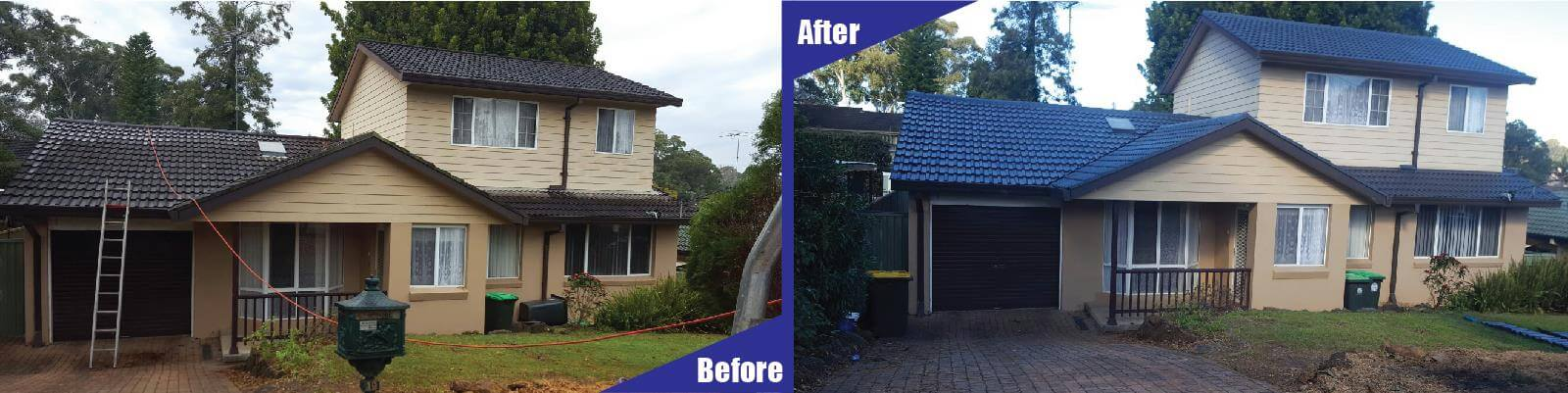 roof coloring before and after