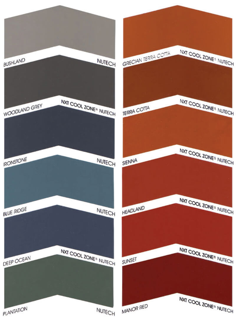 Colour Chart Able Roof Restoration