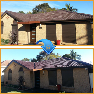 Roof Cleaning Sydney before and after