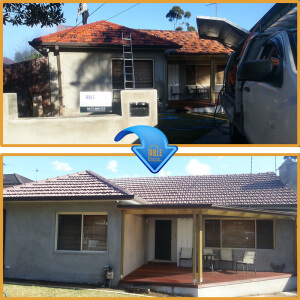Roof Painting Sydney before and after